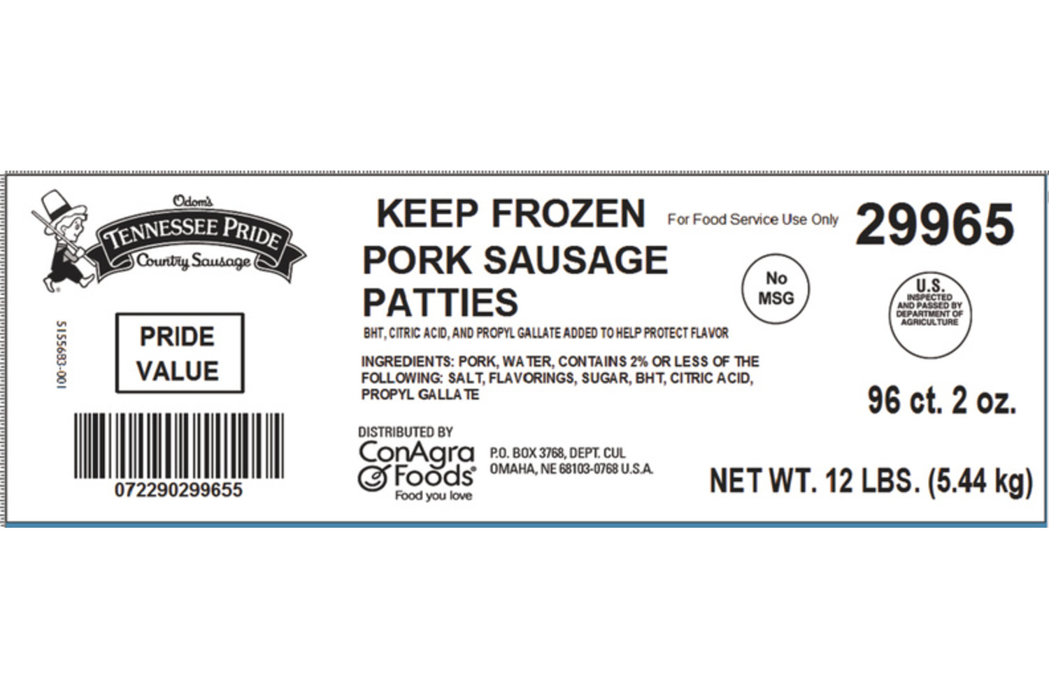 "Value, Fresh Sliced 3"" Sausage Patties, Mild"