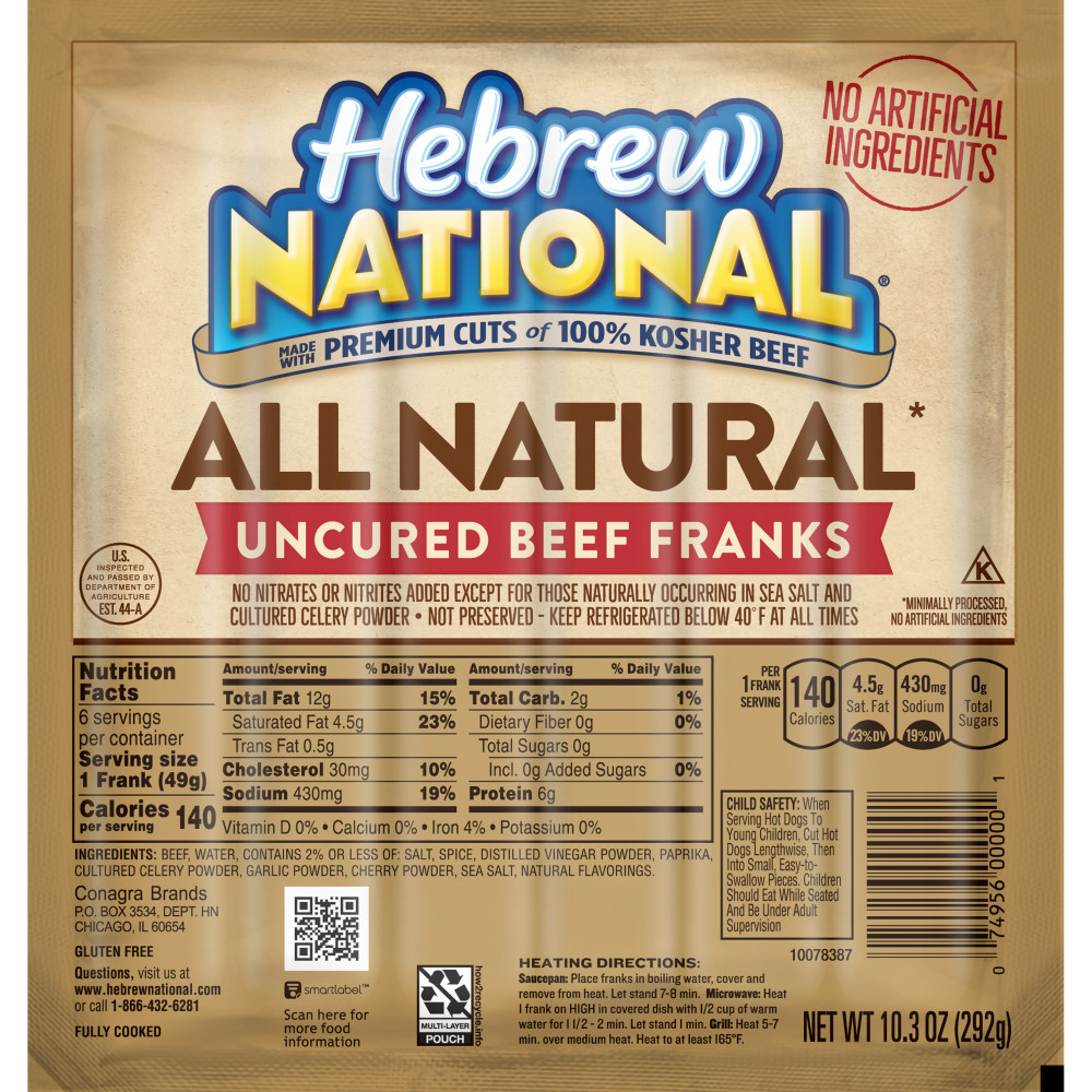 HEBREW NATIONAL Beef Franks All Natural