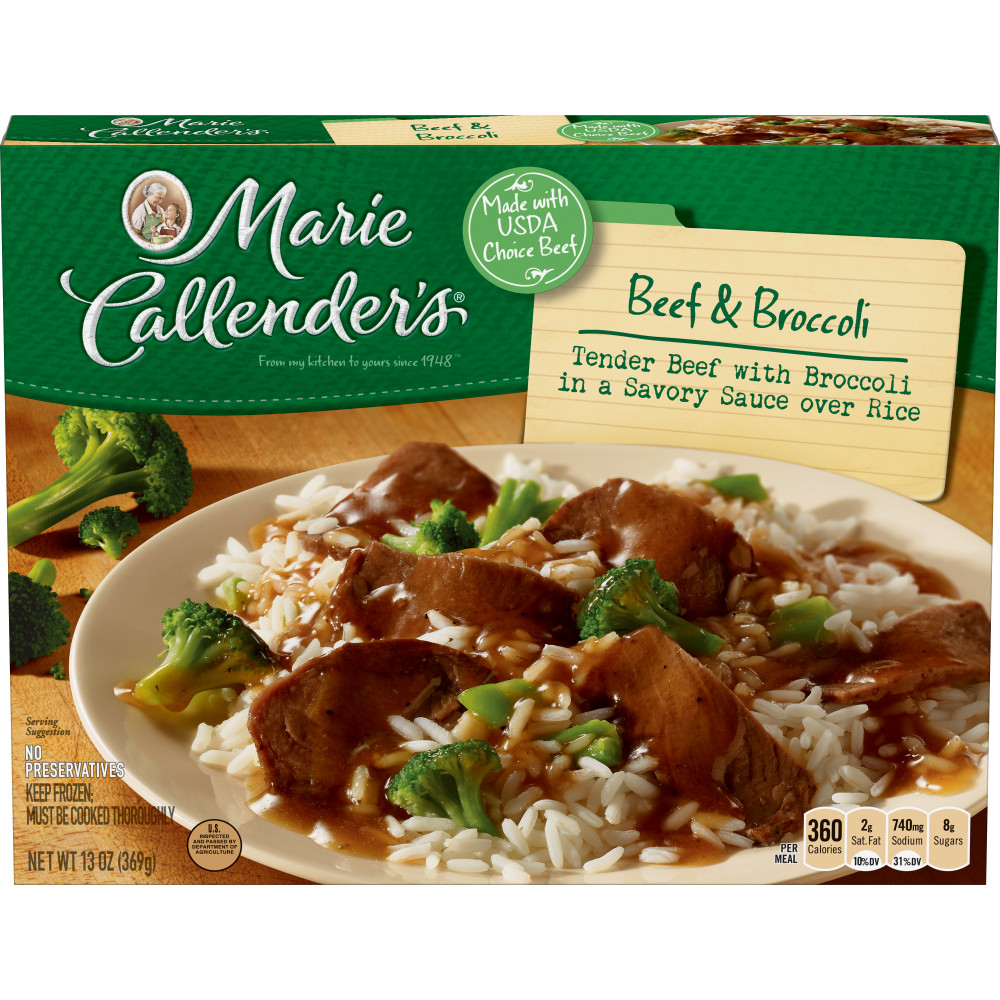 MARIE CALLENDERS Beef And Broccoli Dinners