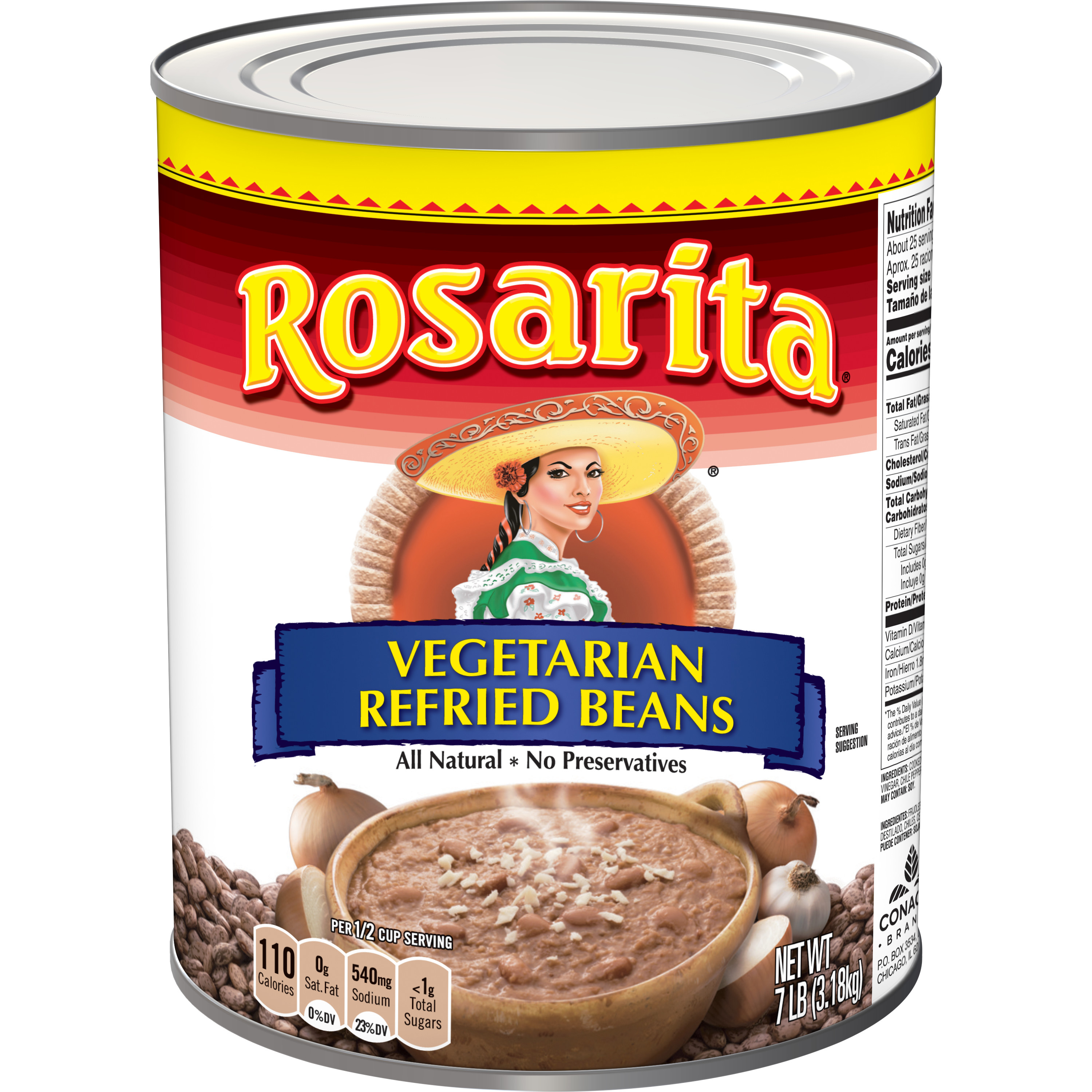 Vegetarian Refried Beans - #10 Can