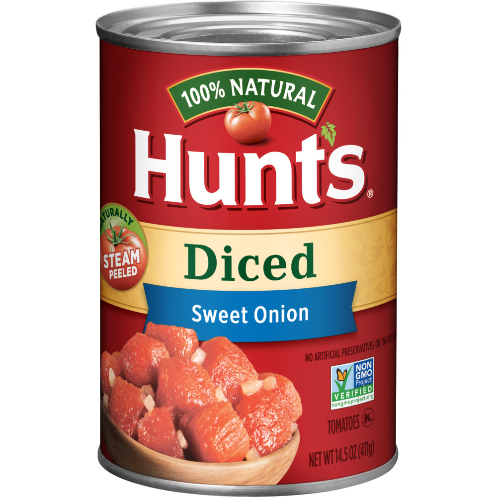 HUNTS Diced Tomatoes With Sweet Onions