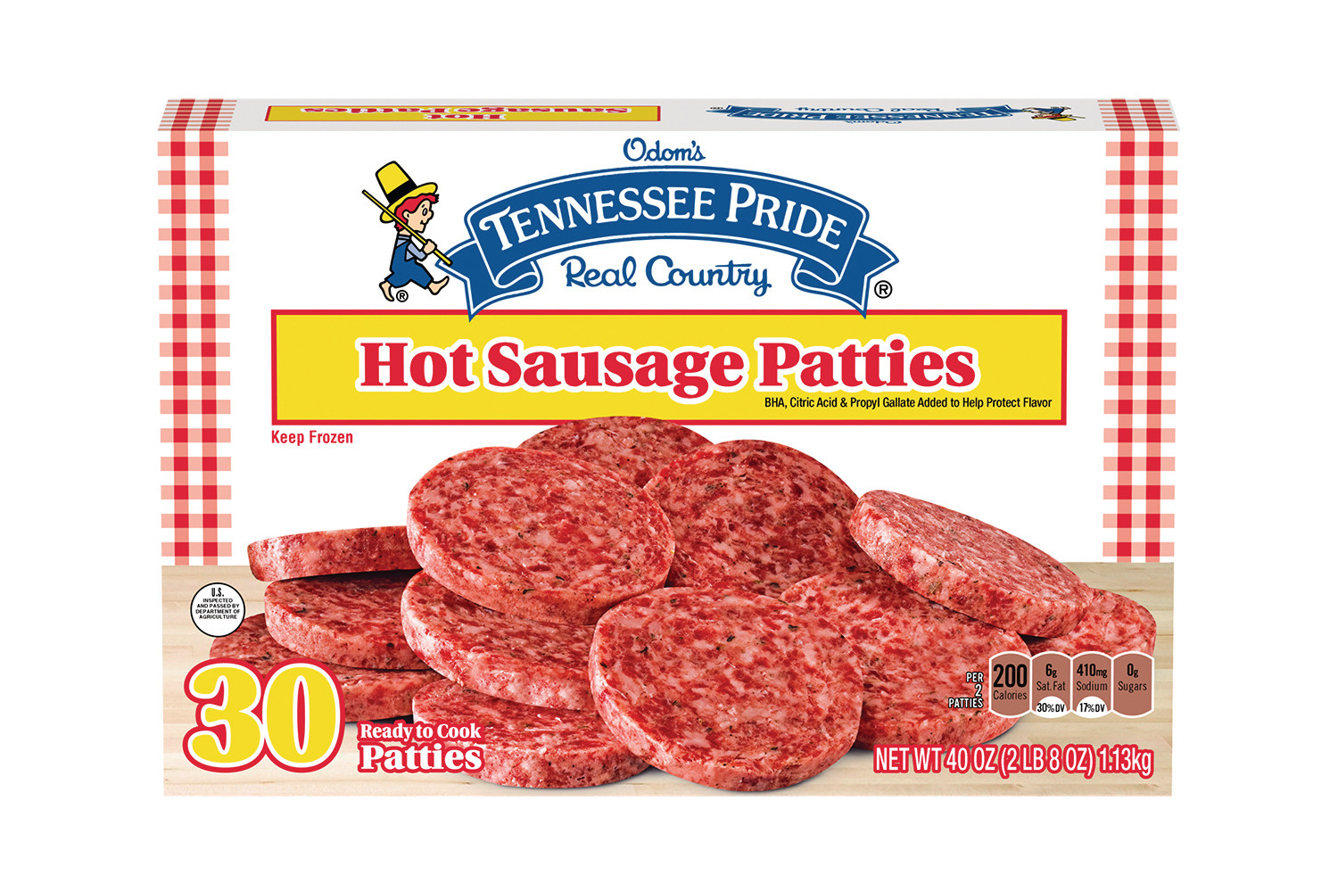 ODOMS TENNESSEE PRIDE Hot Sausage Patties