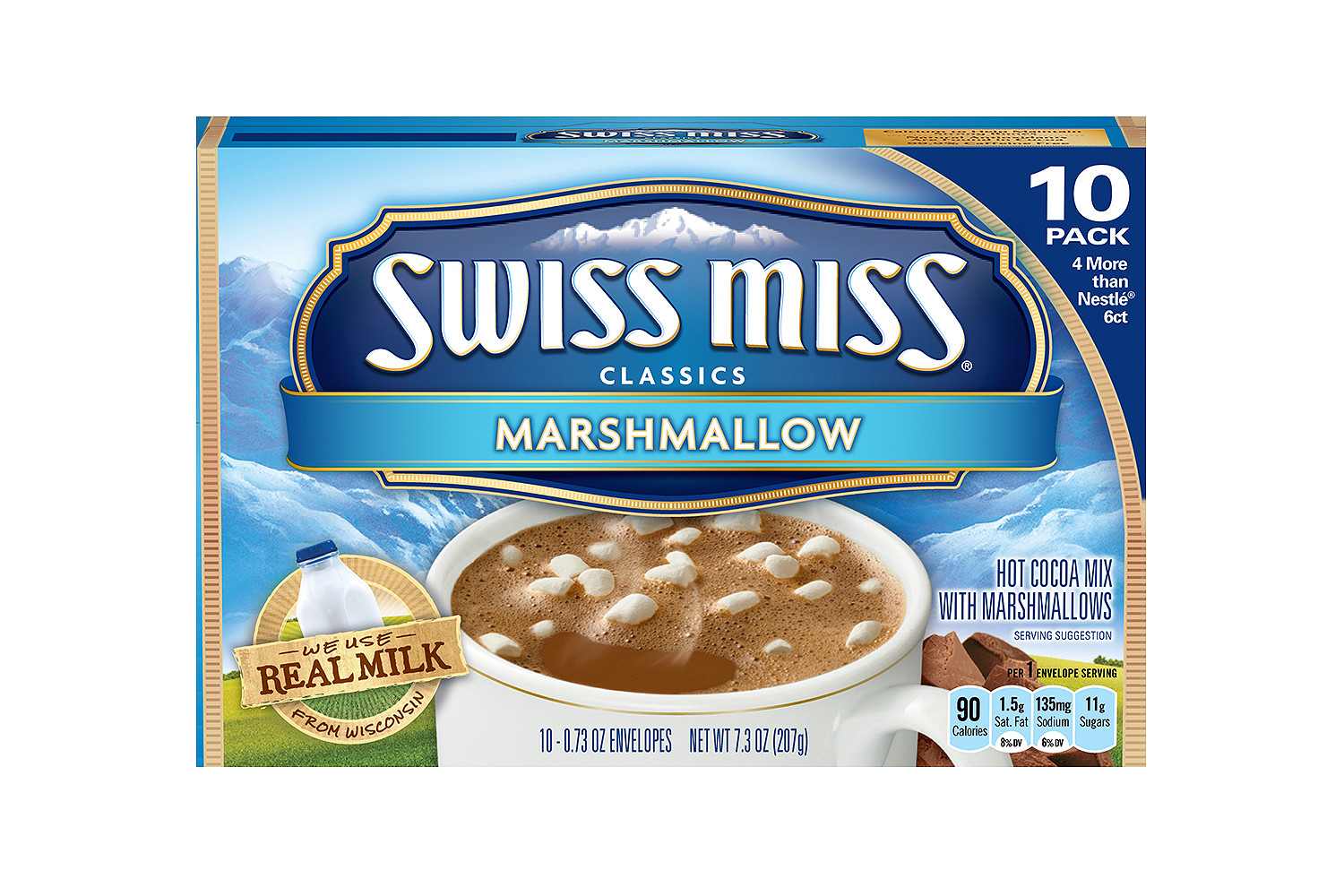 SWISS MISS Milk Chocolate With Marshmallow Cocoa