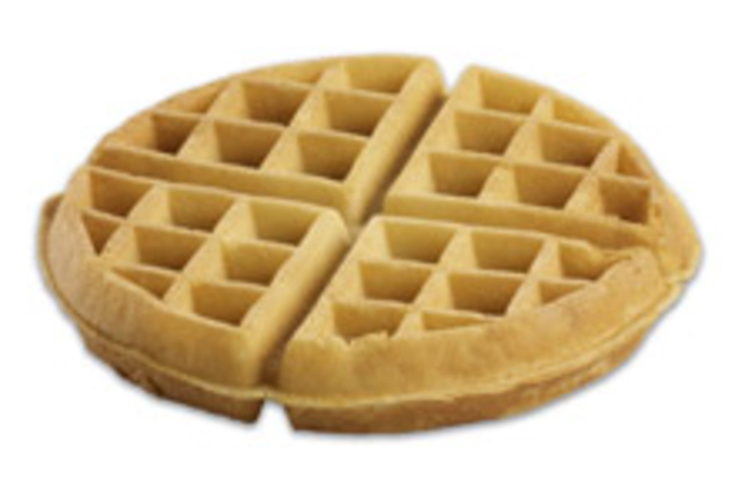 "Chef Supreme Gourmet Belgian Waffles 7"" Round 5 oz."