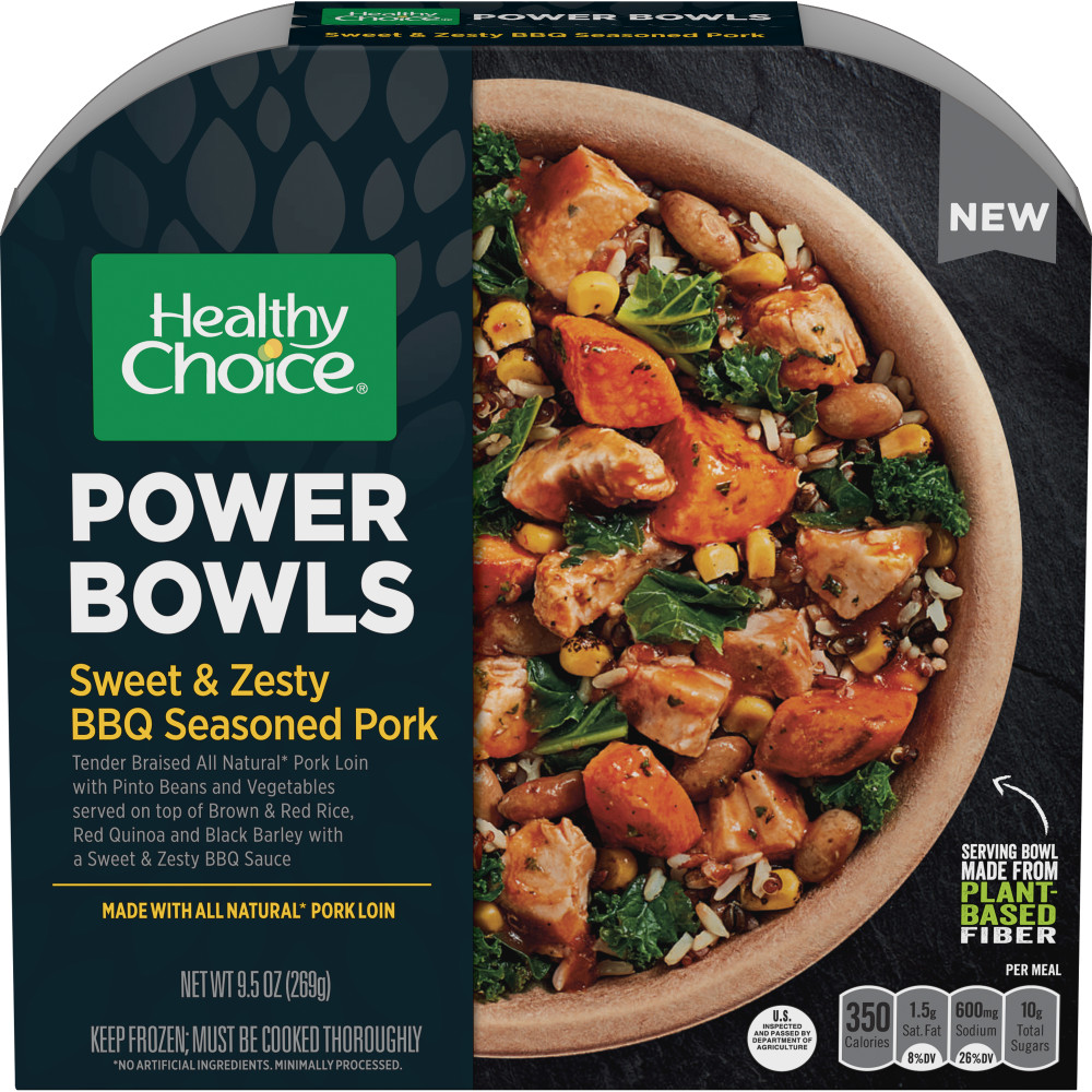 HEALTHY CHOICE Power Bowls Sweet And Zesty BBQ seasoned Pork