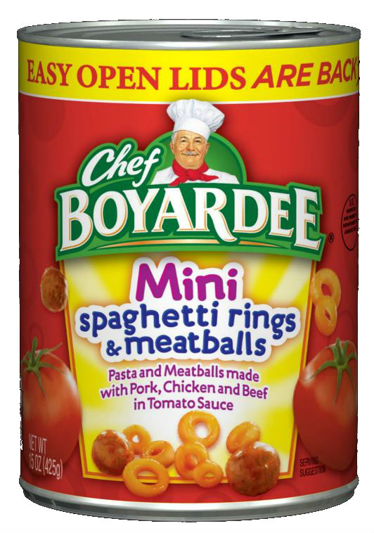 CHEF BOYARDEE Spaghetti Rings With Meatballs Mini Bites