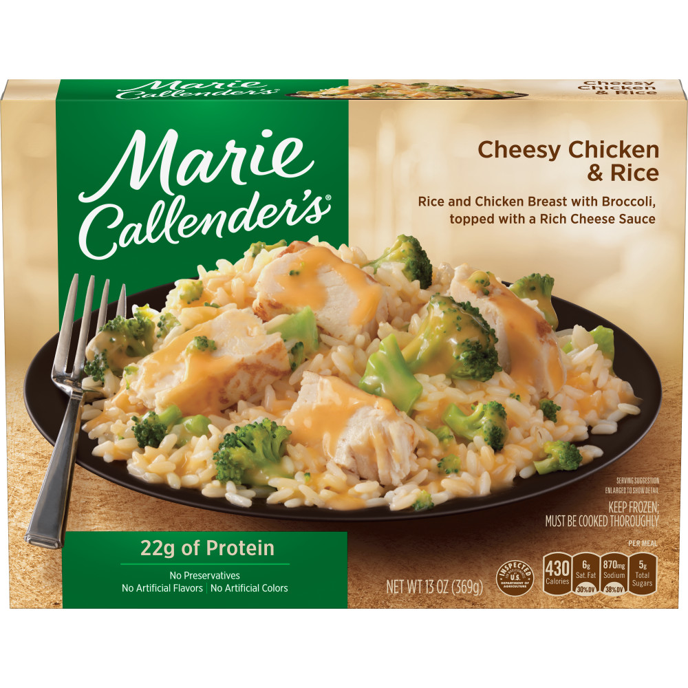 MARIE CALLENDERS Cheesy Chicken And Rice Dinners