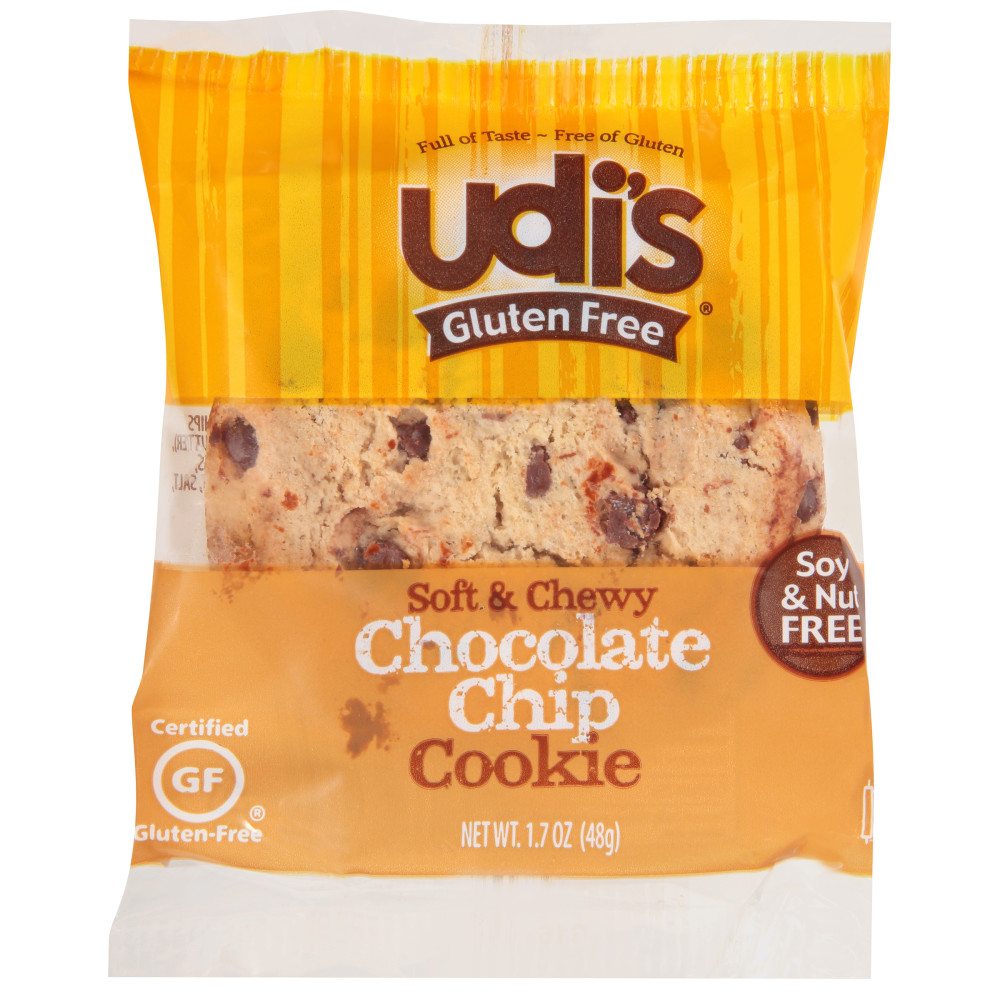Udi's Gluten Free IW Chocolate Chip Cookie 36/1.7oz