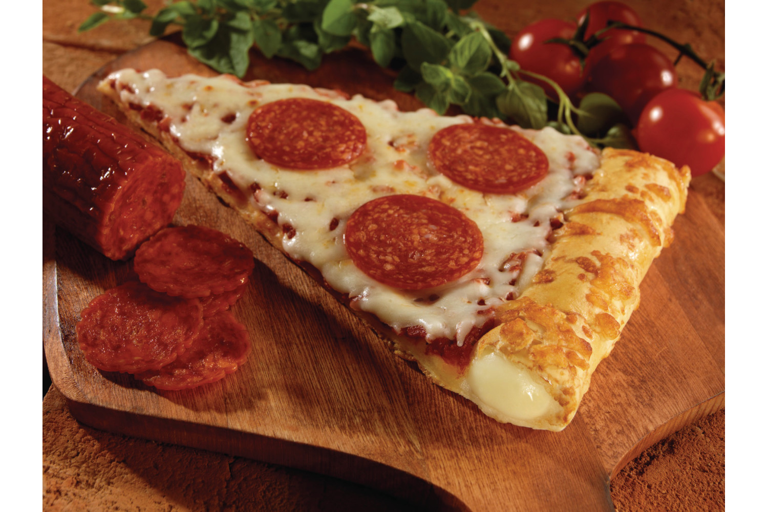 Stuffed Crust, Pepperoni, Reduced Fat, 4.87 oz