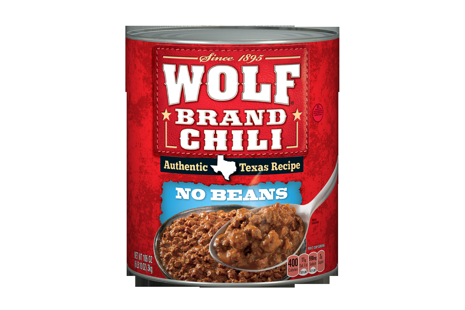 WOLF CHILI WITHOUT BEANS 106 OZ