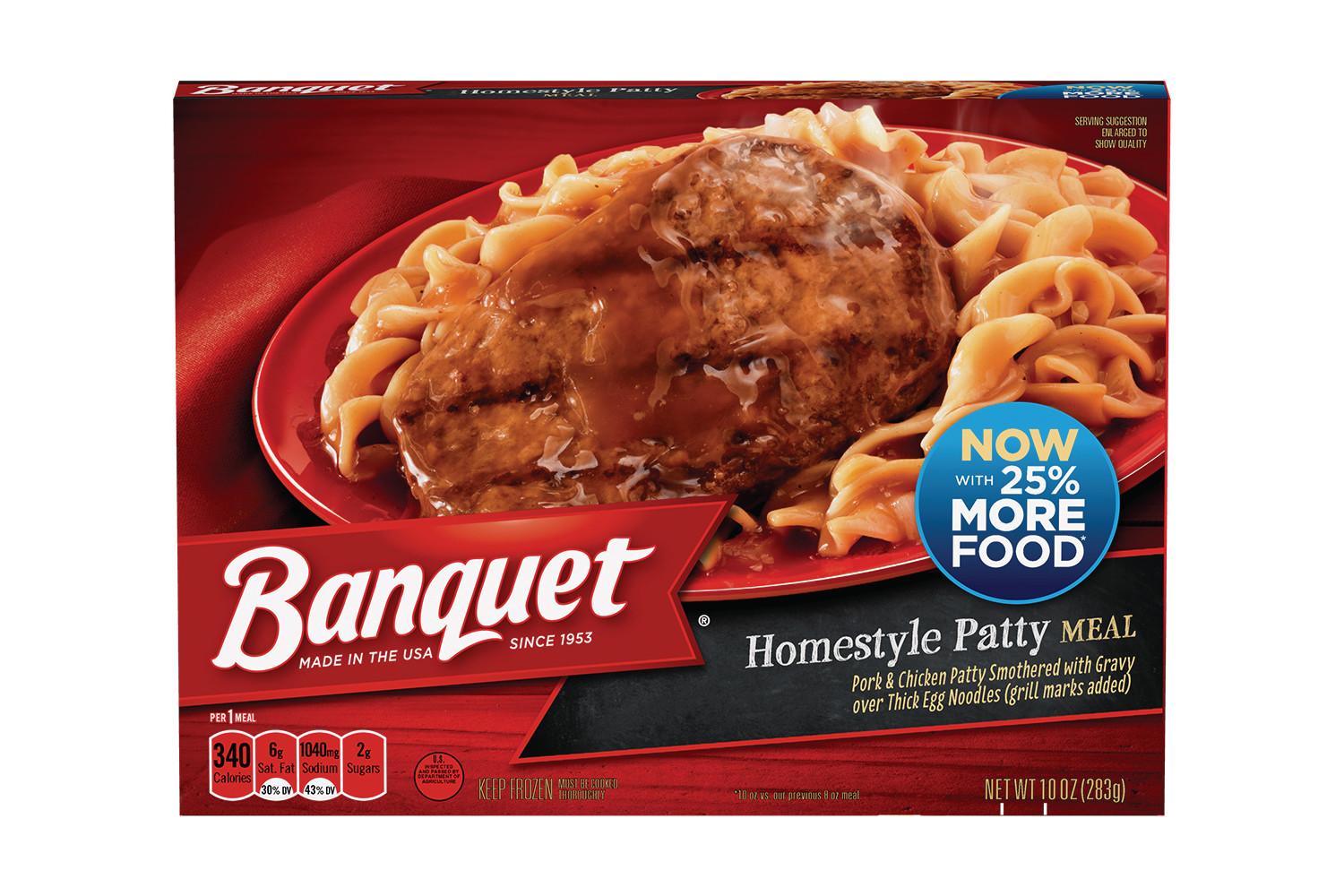 BANQUET Classic Homestyle Patty Meal
