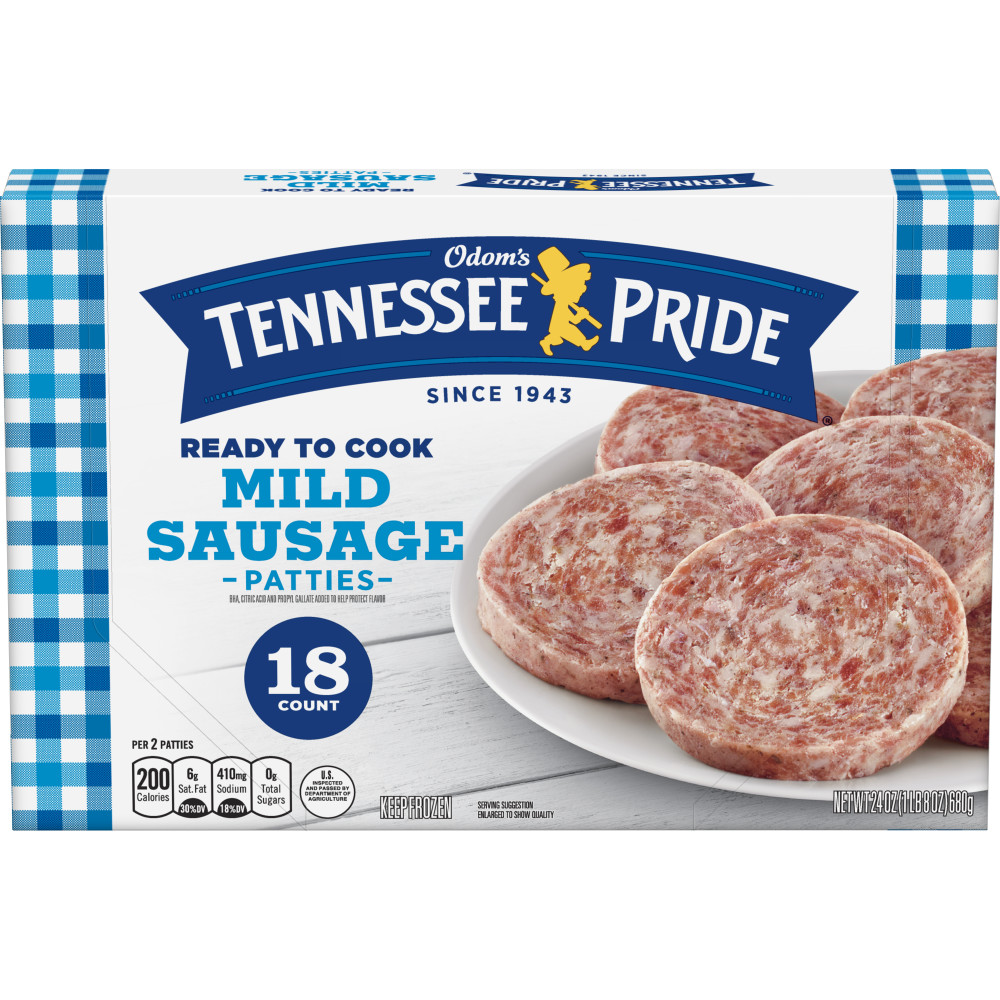 ODOMS TENNESSEE PRIDE Mild Sausage Patties