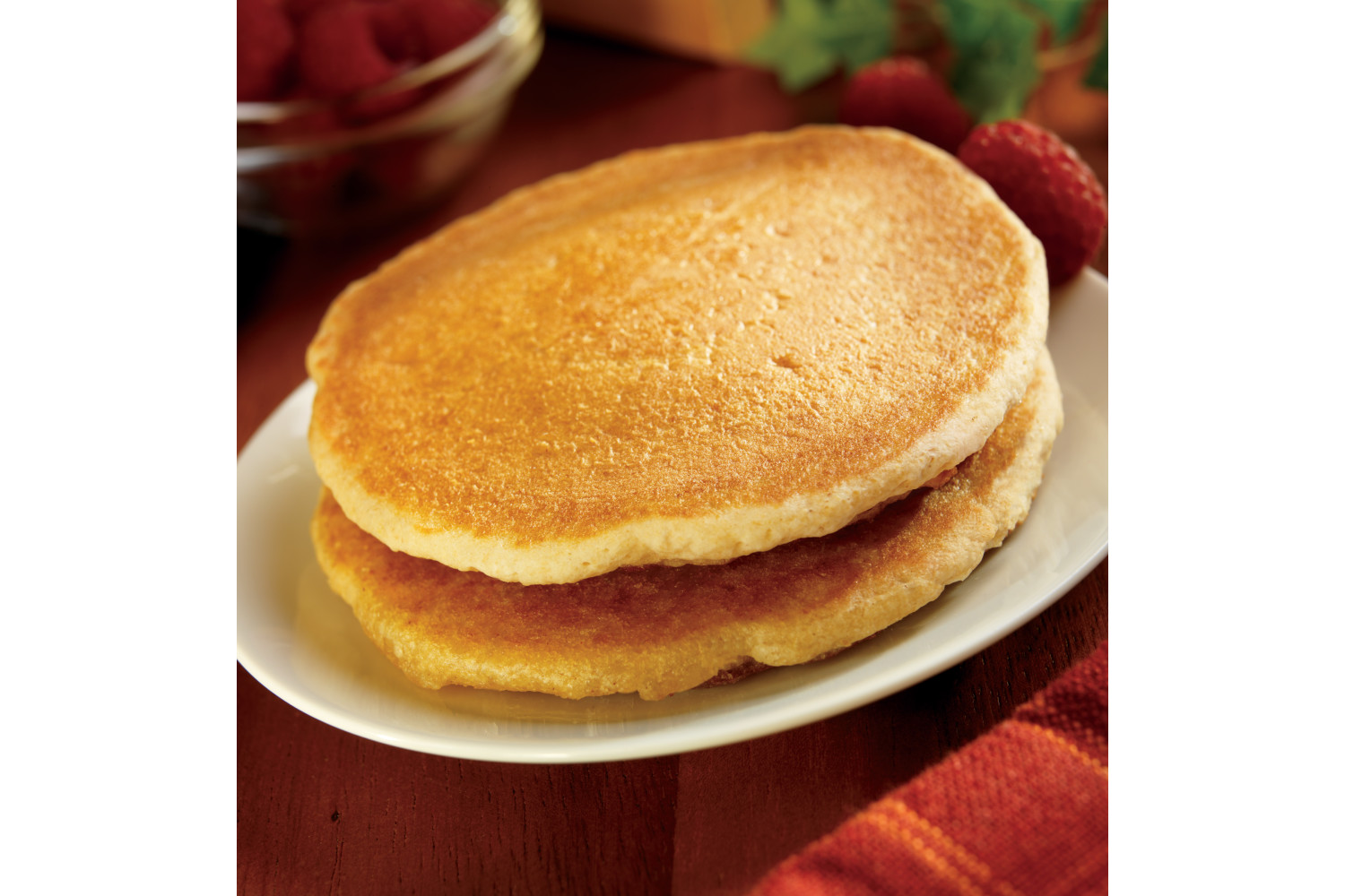 Pancakes with Cinnamon, Whole Grain, 2 pieces, 3 oz