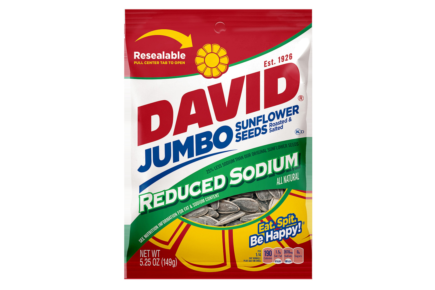 DAVID Reduced Sodium Sunflower Seeds