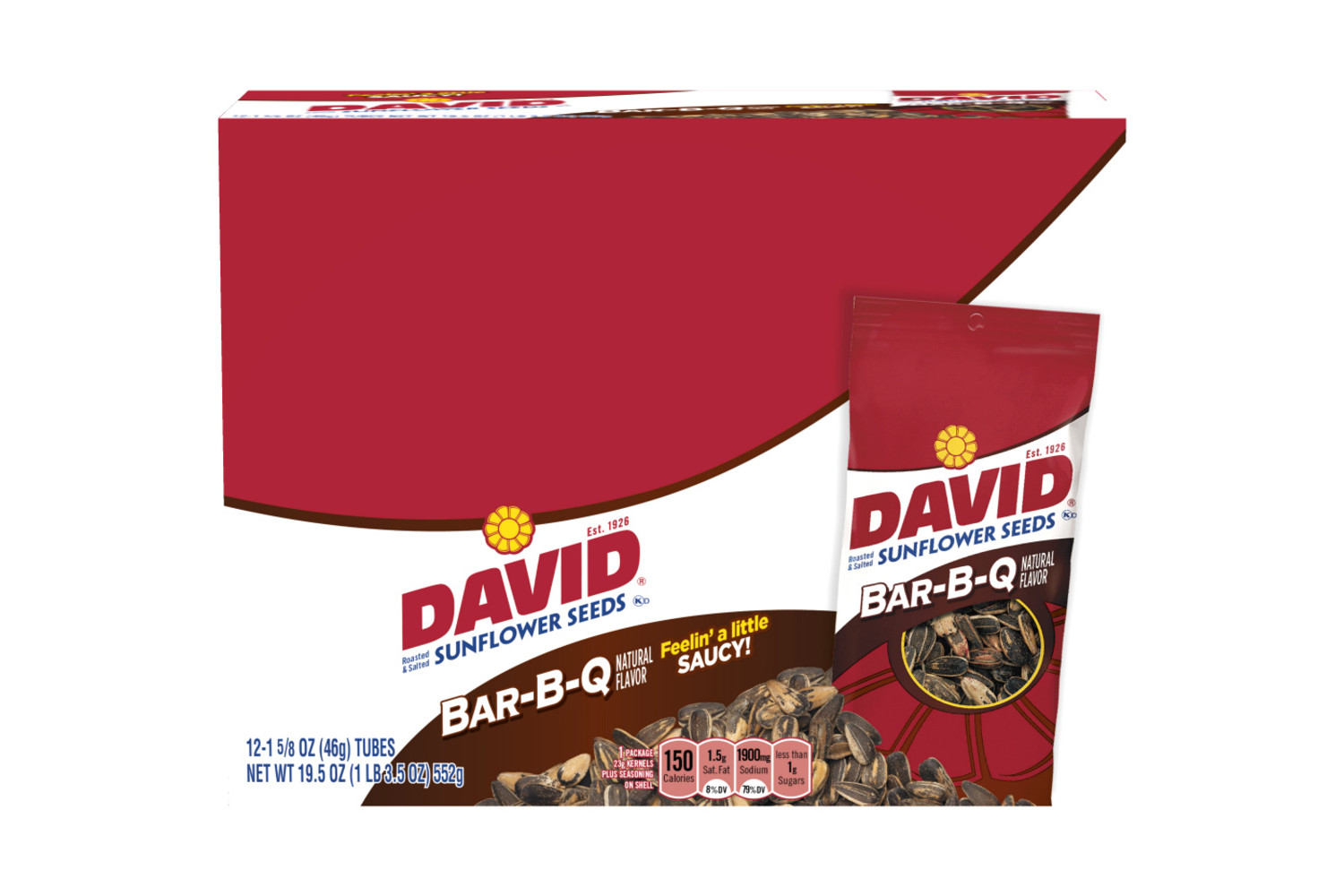 DAVID BBQ Sunflower Seeds