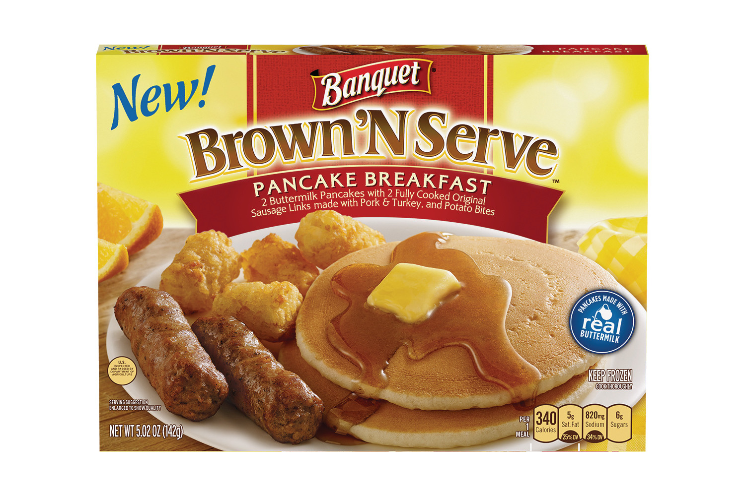 BANQUET Brown N Serve Pancake Sausage Hashbrowns