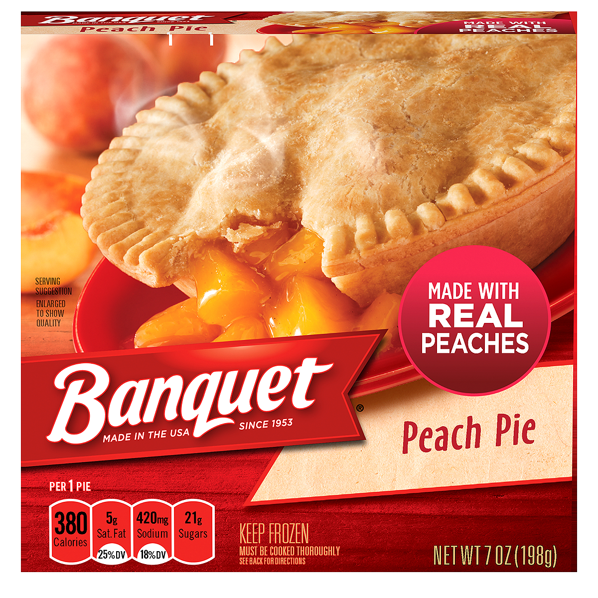 BANQUET Peach Fruit Pie