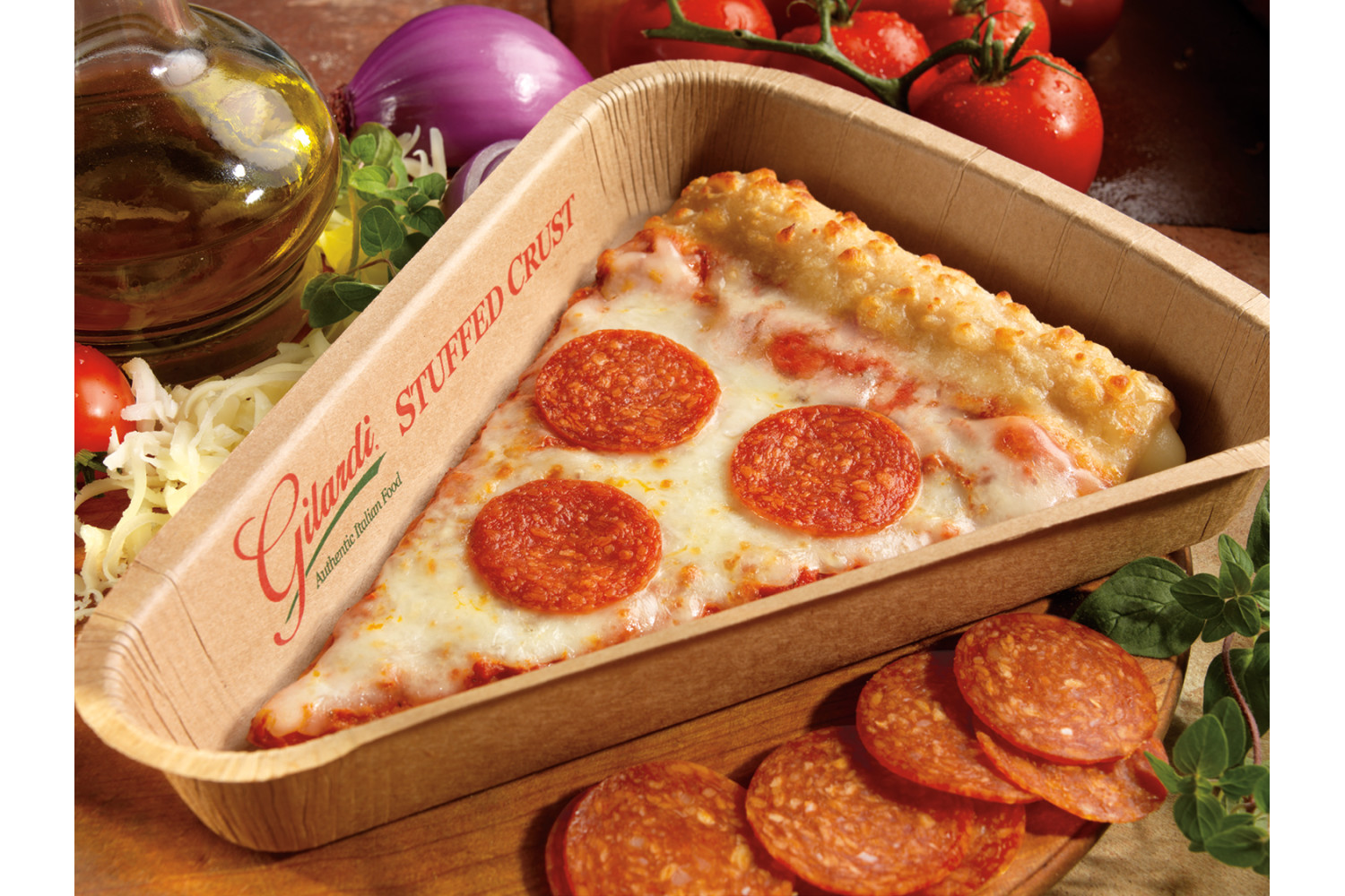 Stuffed Crust Turkey Pepperoni, Medium, CN, 4.5 oz