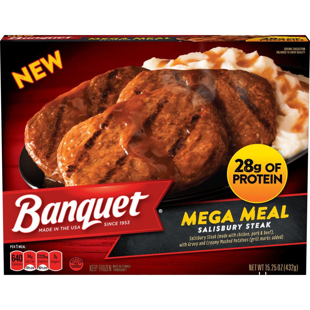 BANQUET Salisbury Steak Mega Meal