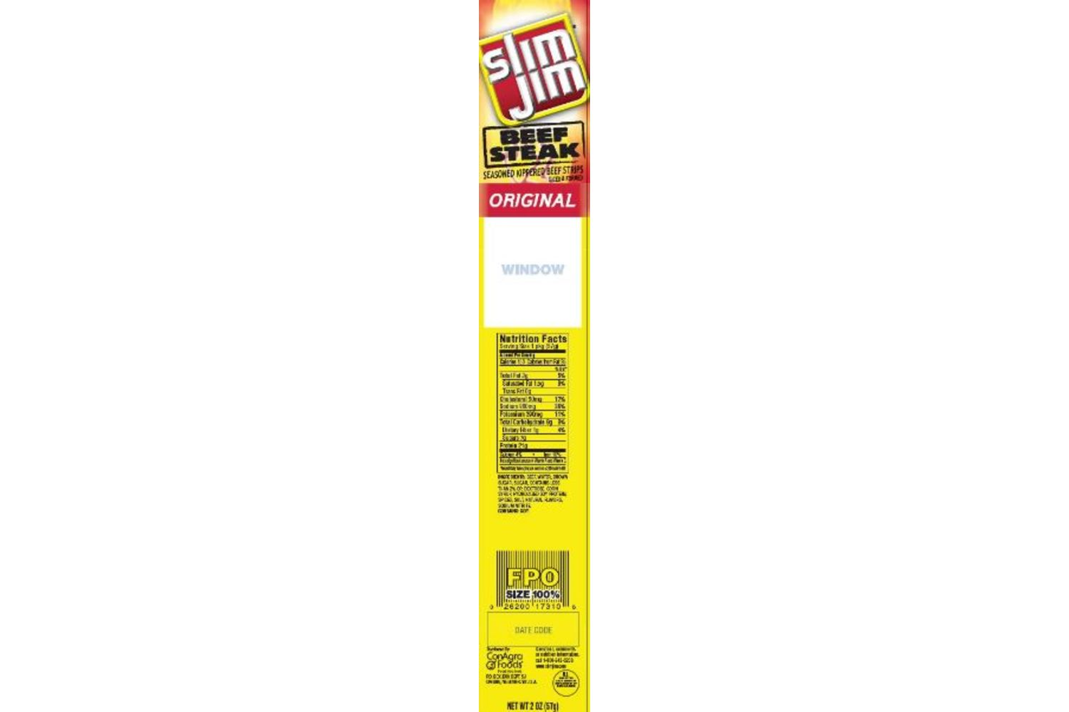 SLIM JIM Original Beef Steak