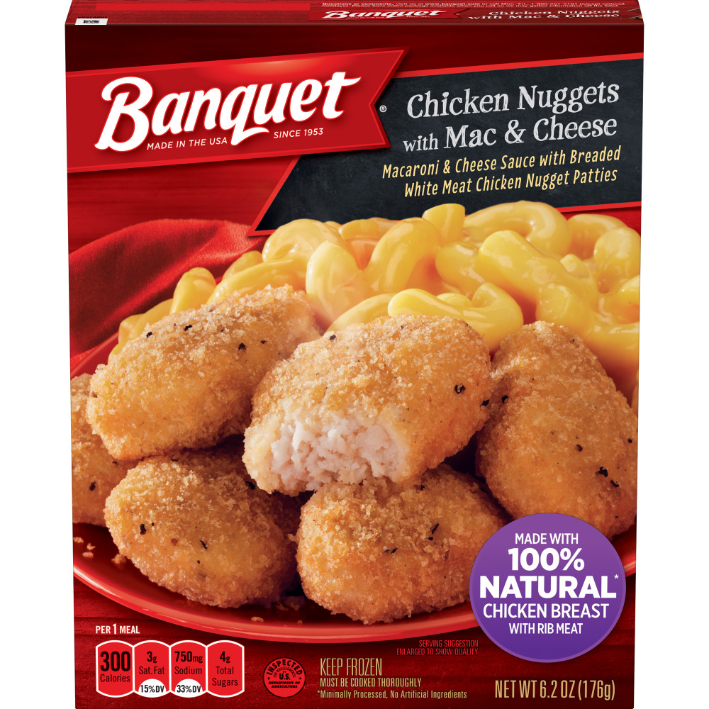 BANQUET Basic Chicken Nuggets With Mac And Cheese Meal