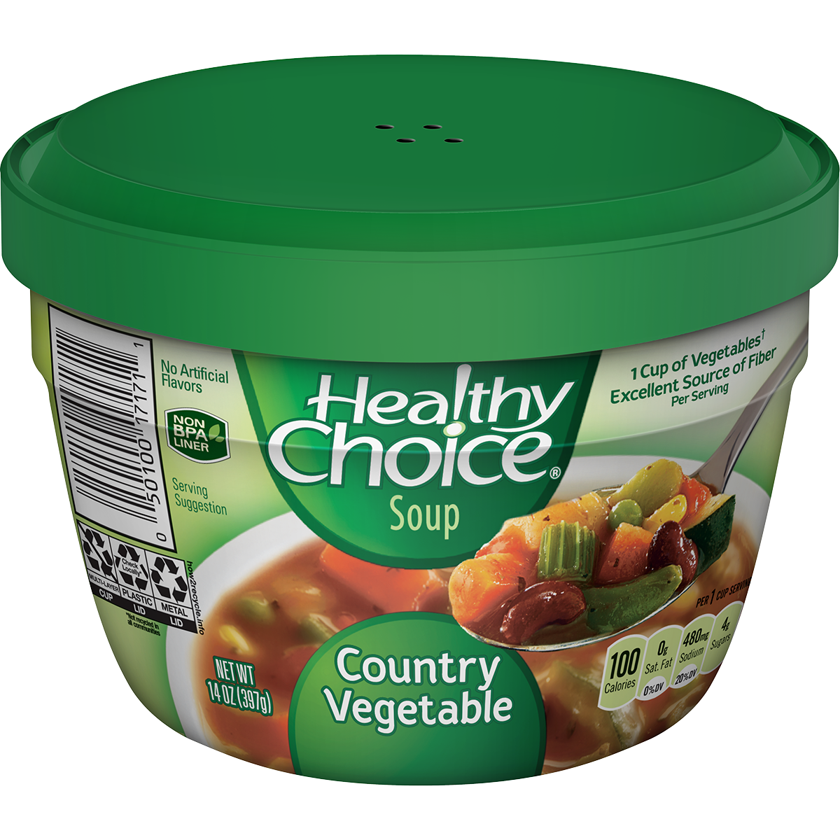 HEALTHY CHOICE Microwaveable Vegetable Soup