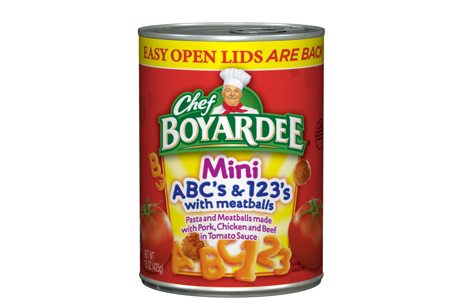 CHEF BOYARDEE ABCs And 123s With Meatball Mini Bites Pasta