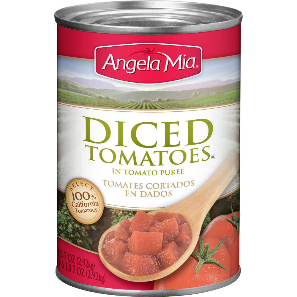 ANGELA MIA Diced Tomatoes in Puree, #10 Can, 6/103 oz.