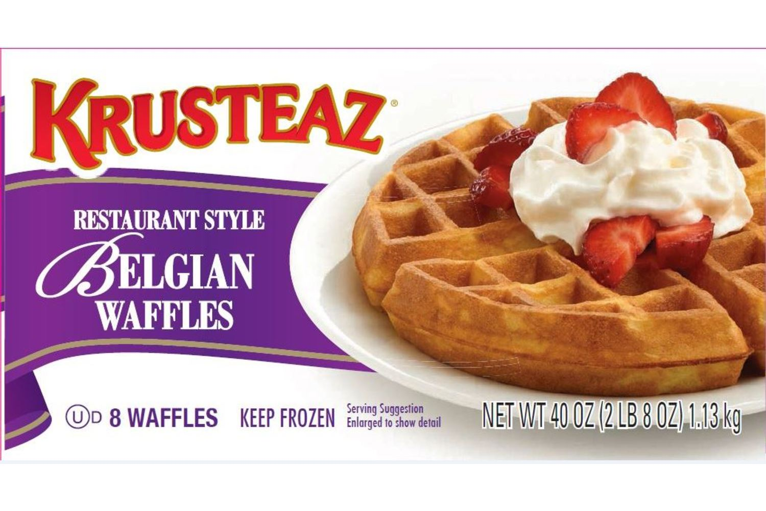 Our crisp and light gourmet Belgian Waffles are individually wrapped in convienent portions for ease of preparation and portion control.
