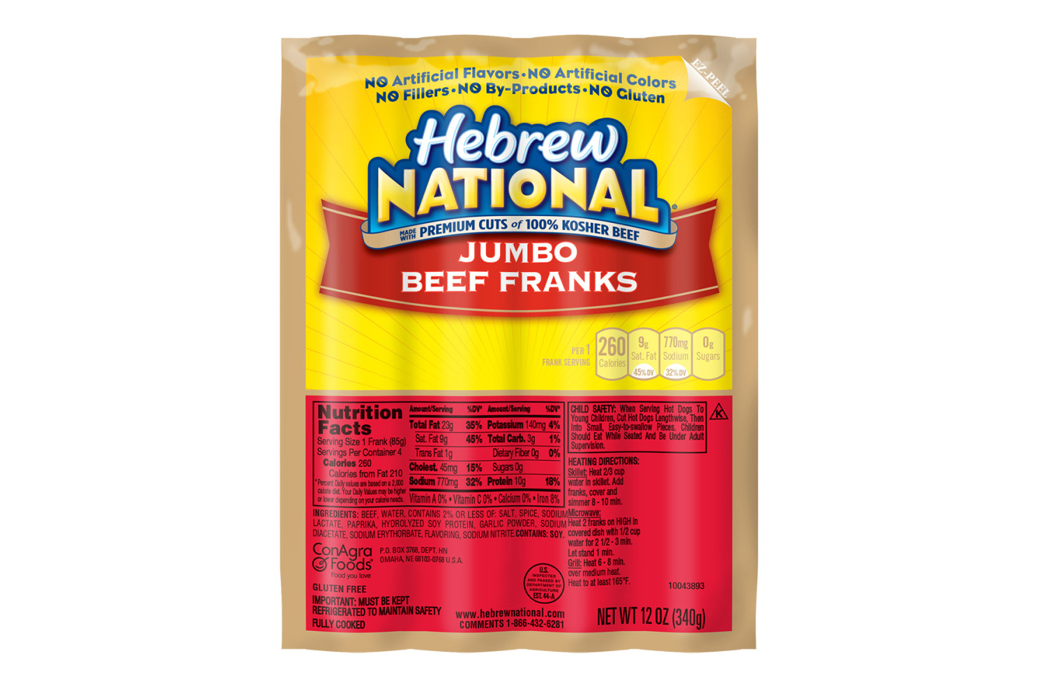 HEBREW NATIONAL Jumbo Beef Franks