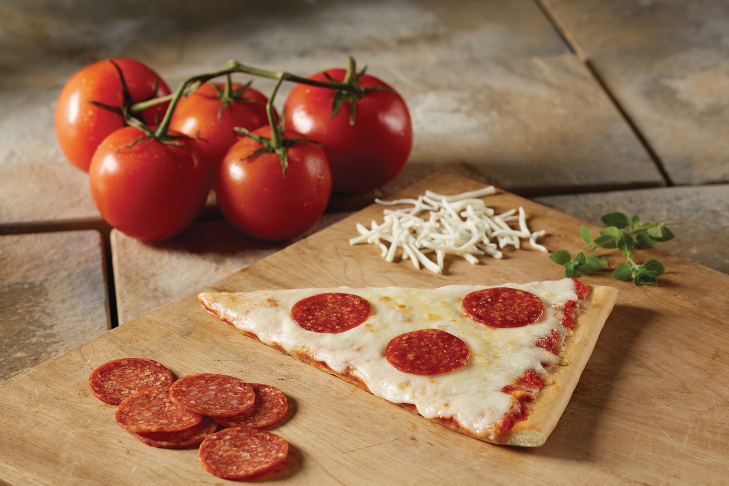 Extra Cheese Real Slice Pepperoni pizza wedge, 4.8oz, CN