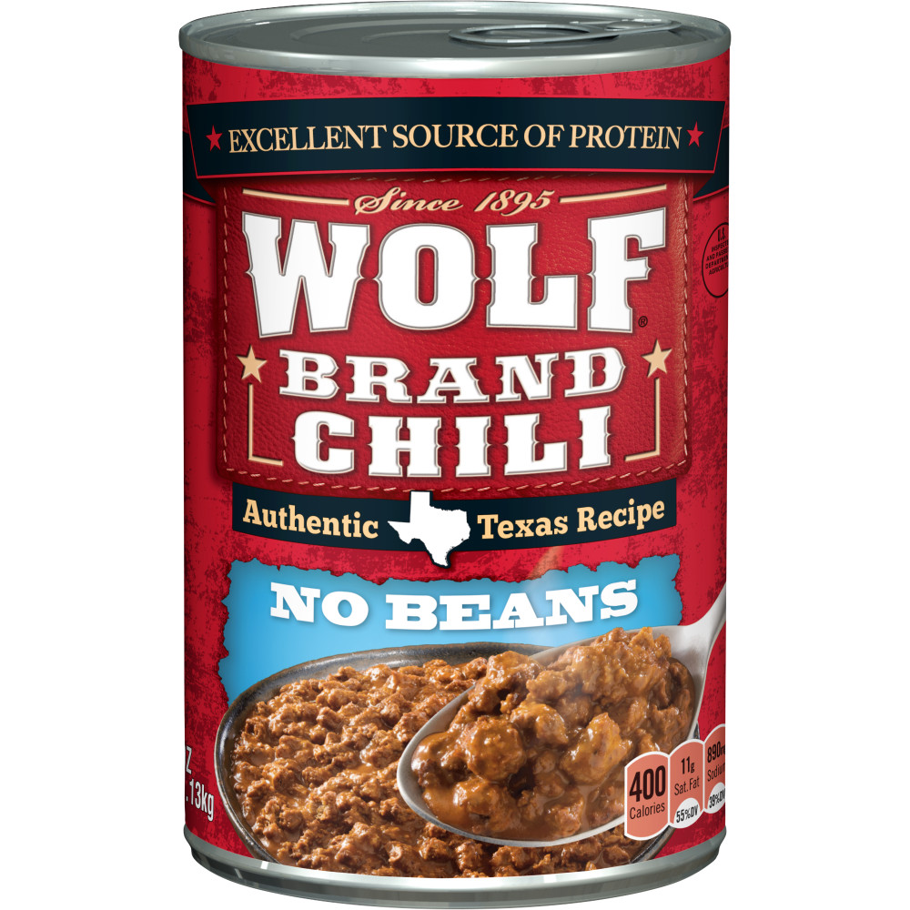 WOLF CHILI WITHOUT BEANS 40 OZ