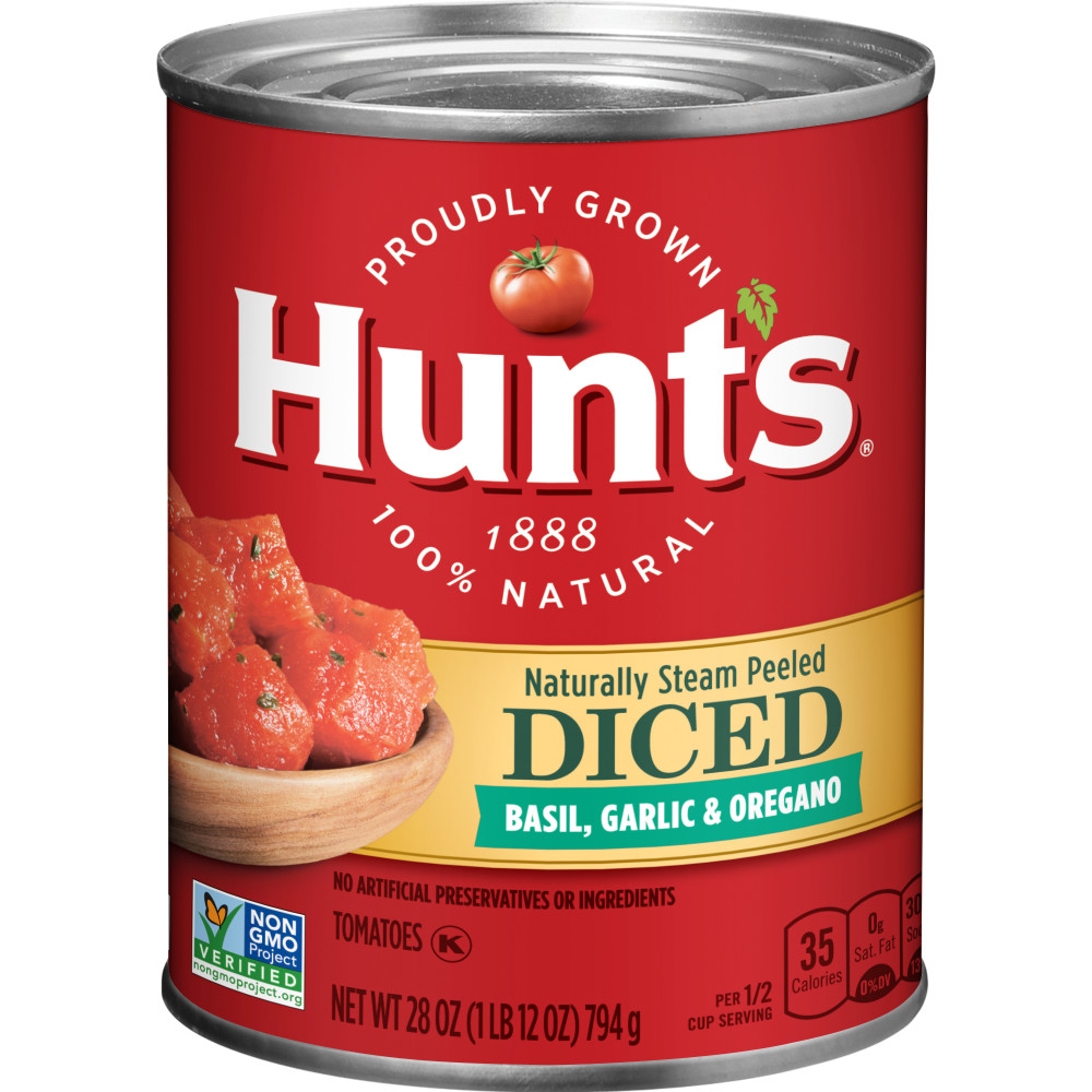 HUNTS Choice Cut Diced Tomatoes With Basil Garlic And Oregano