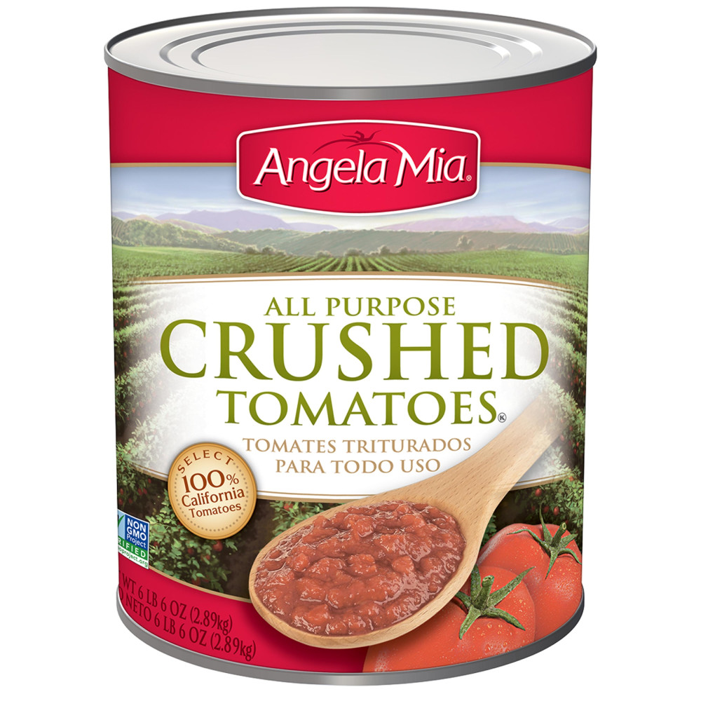 ANGELA MIA All Purpose Crushed Tomatoes, #10 Can, 6/102 oz.