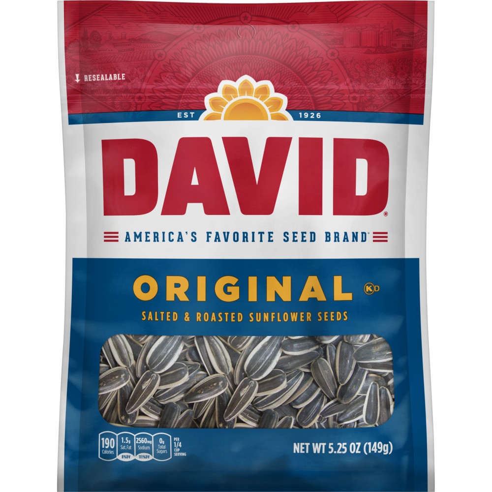 DAVID ORIGINAL SUNFLOWER SEEDS 5.25 OZ