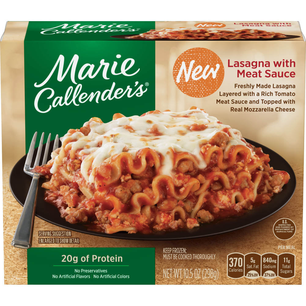 MARIE CALLENDERS Lasagna With Meat Sauce
