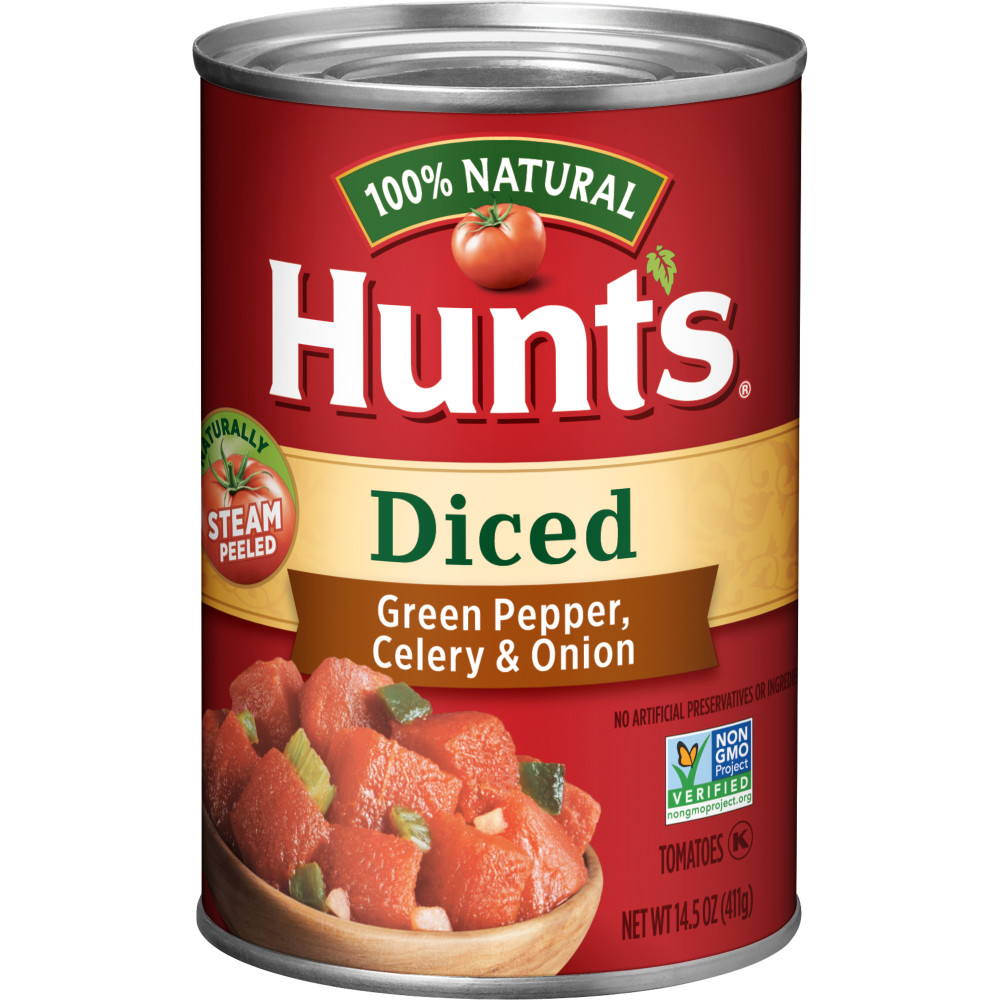 HUNTS Diced Tomatoes With Green Pepper Celery And Onion