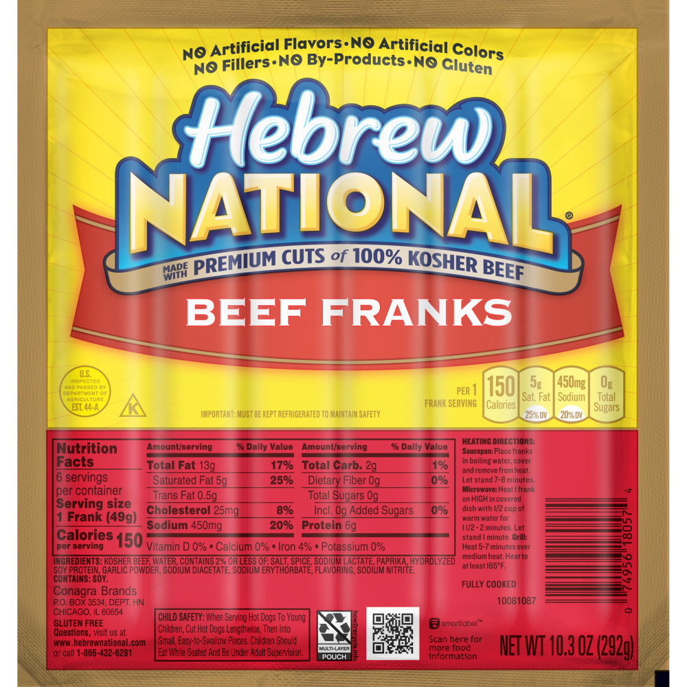 HEBREW NATIONAL Original Beef Franks
