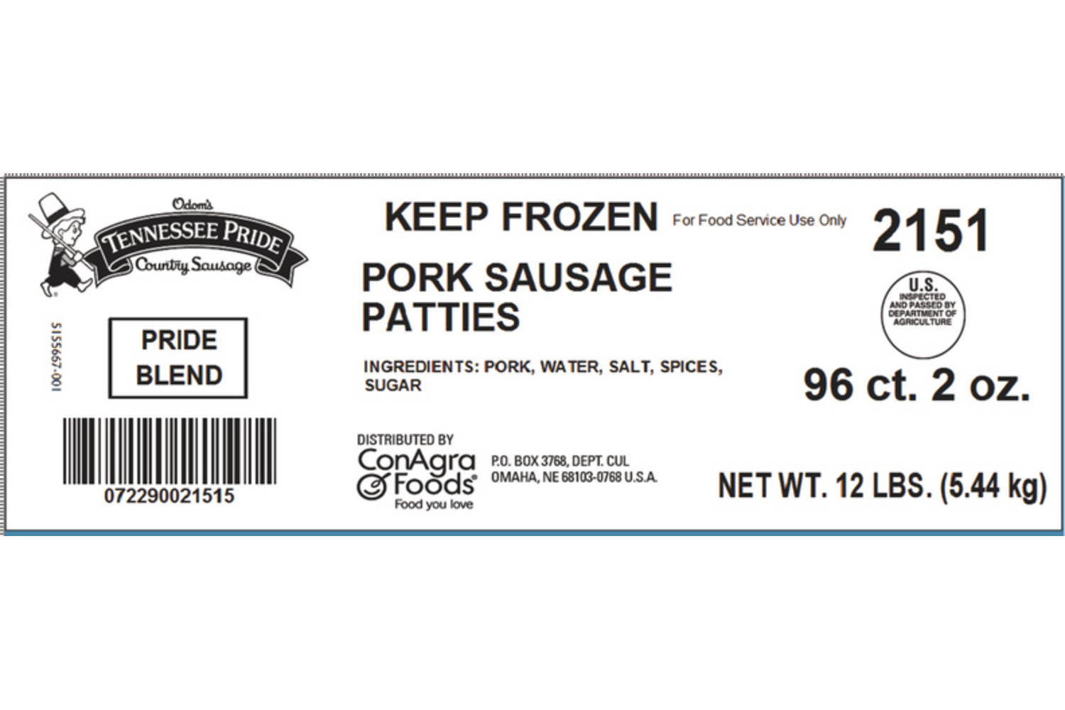"Select, Fresh Sliced 3"" Country Blend Patties, Mild"