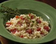 TOMATO RISOTTO WITH DICED TOMATOES