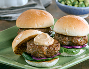 TURKEY SLIDERS WITH SWEET AND SPICY MAYONNAISE
