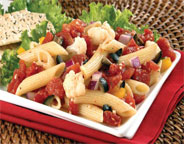 PENNE PASTA SALAD WITH TOMATO VINAIGRETTE