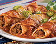 ENCHILADAS WITH GROUND PEAR TOMATOES