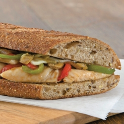 CHICKEN PHILLY-STYLE SANDWICH