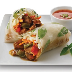 BEEF PEPPER STEAK SPRING ROLLS