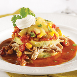 STACKED PULLED PORK AND POLENTA