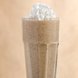 CHOCOLATE COVERED BANANA & PEANUT BUTTER SHAKE