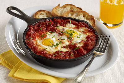 MEDITERRANEAN SHIRRED EGGS