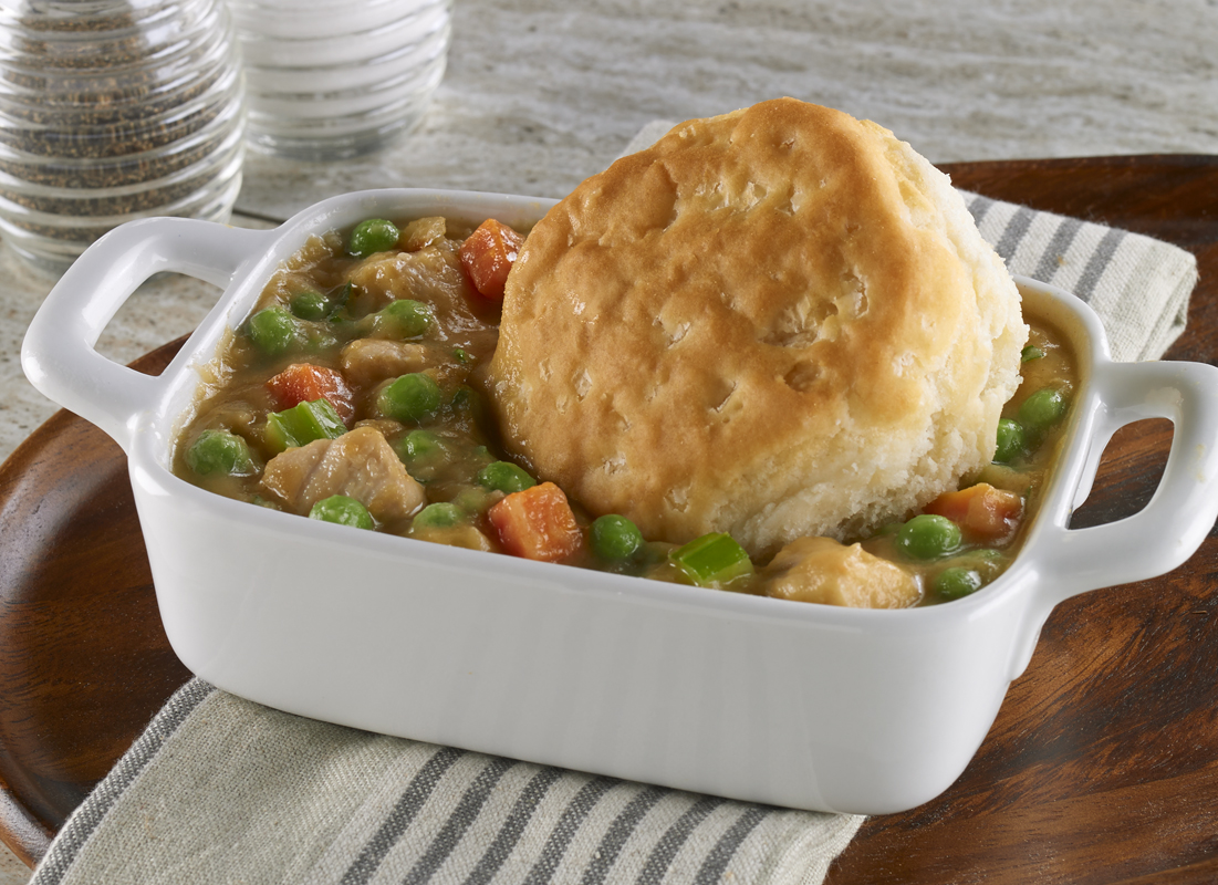 CHICKEN AND BISCUIT POT PIE CASSEROLE