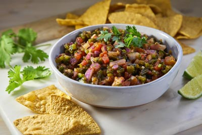ROASTED POBLANO PEPPER & RED ONION SALSA